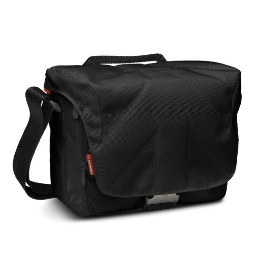 Manfrotto Stile Kollektion Bella VI Schultertasche (für DSLR mit 70-200mm Objektiv, 2 zusätzliche Objektive + Blitzgerät, Zubehör) schwarz