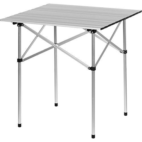 Tavolo Pieghevole In Alluminio.Maxstore Alluminio Tavolo Da Campeggio Pieghevole Tavola Di Rotolamento 70x70x70 Cm Tavolo Pieghevole In Alluminio Incl Custodia