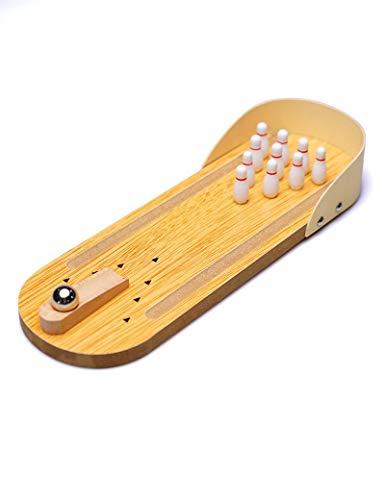 GONGFF Handwerk Dekoration - Holz Mini Desktop Bowling Handwerk kreative Heimat praktische Freizeit büro Spiel Spielzeug