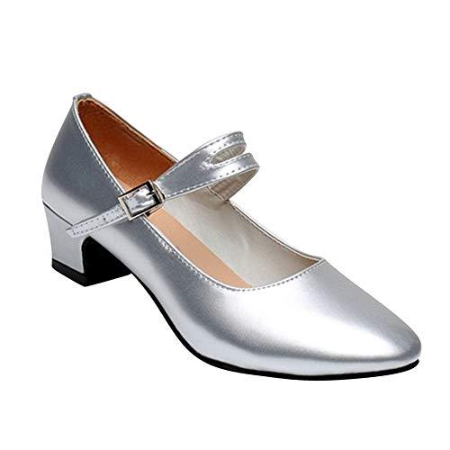 uirend Damen Pumps Blockabsatz - Frauen Elegant Büro Bequem Court Shoe Party Abendschuhe Office Schuh Pump
