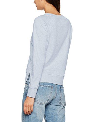 Only Onllotus Ls O-Neck Noos, Sweat-Shirt Femme Bleu (celestial blue Detail:Melange)
