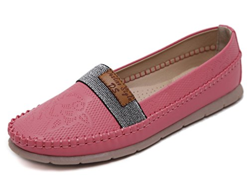 Fortuning's JDS Simple style casual chaussures plates à semelle souple avec cordes Rouge