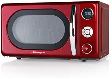 Orbegozo MIG 2042 - Microondas con grill, 20 litros de capacidad, 10 niveles de potencia, 8 menús automáticos preconfigurados, sistema de cocción multifunción, display digital LED