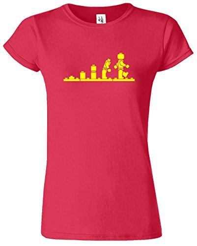LEGO Evolution Damen T-shirt Star Trooper Entwurf Kriege Retro Antik Kirschrot