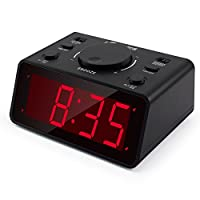 Itronics Led Digital Alarm Clocks For Bedroom/Heavy Sleepers With 1.2 Display 3 Adjustable Brightness, Battery Operated Electronic Dual Alarm Clocks With Snooze, 4 AA Batteries, Plastic
