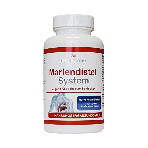 MARIENDISTEL VITAL COMPLEX mit Silymarin - Mariendistel + Artischocke + Löwenzahnwurzel + Taurin + Cholin und mehr - Für eine gesunde Leber Funktion (120 Kapseln) - für 60 Tage