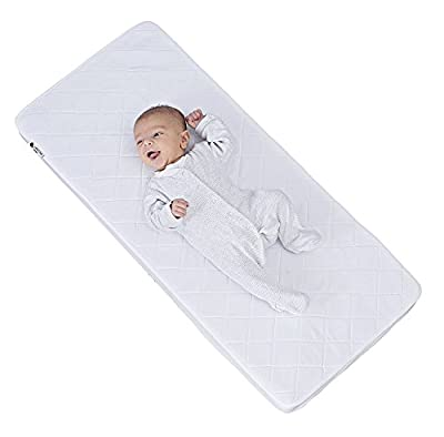 Little Chick London Breathable Bedside Crib Luxury Microfibre Hypoallergenic Mattress - 90cms x 40cms x 5cms