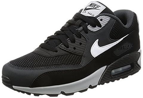 Nike Air Max 90 631744, Herren niedrig, Schwarz (Black/white-anthracite-wolf Grey), 46 EU