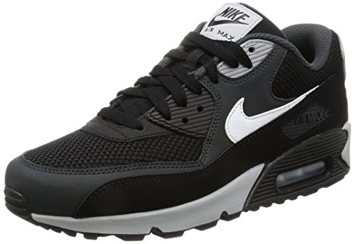 Nike Herren Air Max 90 Essential Sneakers, Schwarz (Black/White/Anthracite/Wolf Gr), 44 EU