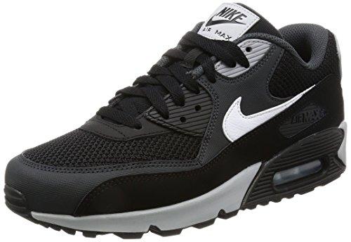 Nike Air Max 90 Essential, Scarpe da Ginnastica Uomo Multicolore (Black/White-Anthracite-Wolf Grey)