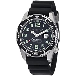 Momentum Men's 1M-Dv52B1B M50 Mark II Military Inspired Black Rubber Watch