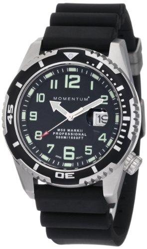 Momentum - 1M-DV52B1B - Montre Homme - Quartz Analogique - Bracelet Caoutchouc noir