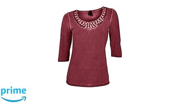 Haut avec Col rond Femmes de Best Connections - Bordeaux, Femme, 40   Amazon.fr  Vêtements et accessoires dd0dcf8bb433