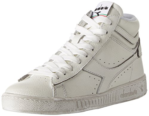 Diadora Game L High Waxed, Sneaker a Collo Alto Unisex – Adulto, Bianco, 42 1/2 EU