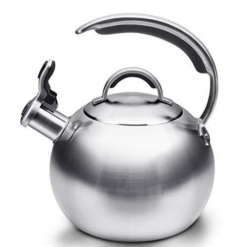 Wasserkocher 304 Edelstahl Kessel Gas Gas Induktion Herd Universal Whistle Haushaltskessel 1.9L WHLONG