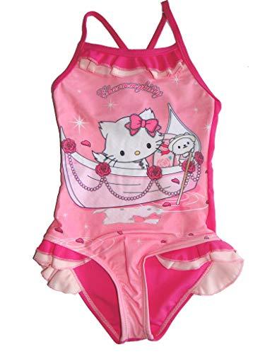 Sun City Mädchen Badeanzug rosa Charmmy Kitty Sanrio Kinder Bademode Badehose (98/104, rosa/pink)