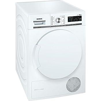 Siemens iQ700 WT44W5W0 iSensoric Premium Wärmepumpentrockner/A+++/8 kg/Großes Display mit Endezeitvorwahl/Selbstreinigungs-Automatik/weiß