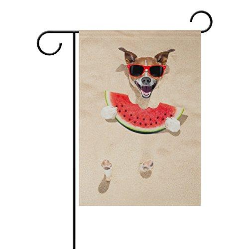 MyDaily Bandera Decorativa de Doble Cara para Jardín, Diseño de Sandía de...