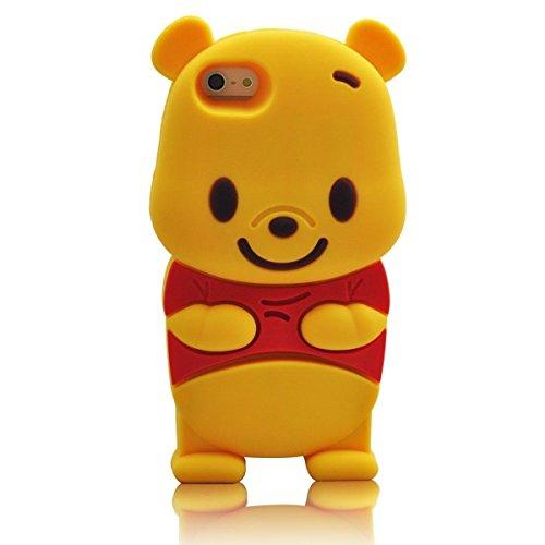 iPhone 6 6S Fall, Anya 3D netter Bogen-Superheld-Serie Art-Karikatur-Leder Hülle Shell-Hülle für Apple Iphone 6 6S 4,7 Zoll Winnie the Pooh Bier (Release Besten Bogen)