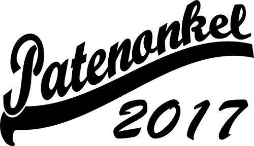 Mister Merchandise Herren Men T-Shirt Patenonkel 2017 Tee Shirt bedruckt Rot