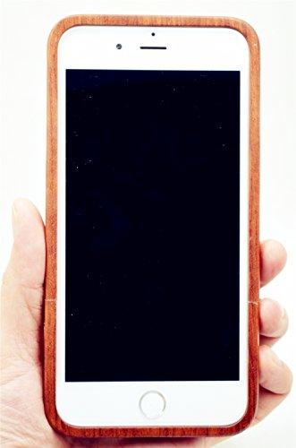 RoseFlower® Coque iPhone 7 / iPhone 8 4.7'' en Bois Véritable - Bois de rose avec PC - Fabriqué à la main en Bois / Bambou Naturel Housse / Étui avec Gratuits Film de Protecteur Écran pour votre Smart PalissandreMandalafleur