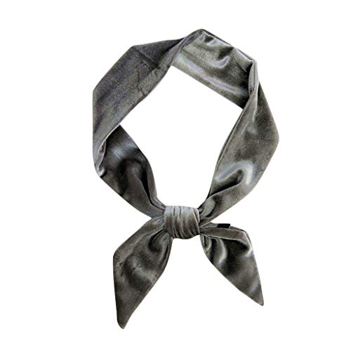 Lenfesh Damen biegbares Haarband Stirnbänder wickeln dehnbar Moisture Hairband Mädchen Twisted Cute Hair Accessories Navy Silk Bow Tie