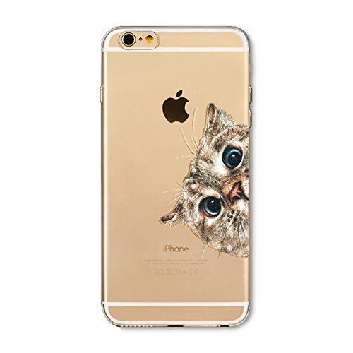 BoomTeck iPhone 8 Hülle, iPhone 7 HandyHülle Silikon Durchsichtig Slim Schutzhülle für iPhone 8/iPhone 7 Transparent Dünn Weiche TPU Gel Stoßfest Gummi Clear Bumper Back Cover Süße Katzen Muster Gummi-gel Cover