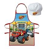 Paw Patrol Blaze Soy Luna - Set da Cucina per Bambini con Grembiule e Cappello da Cuoco Fuoco
