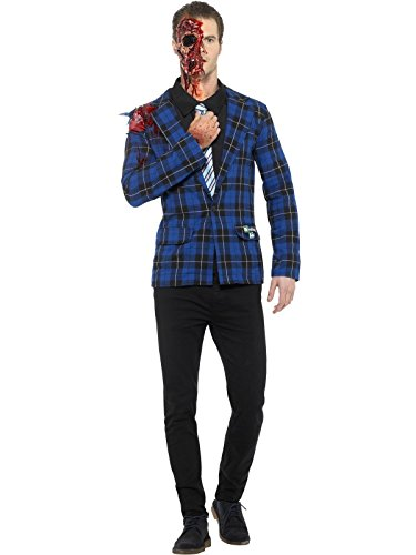Smiffys, Herren Breaking Bad Gustavo Fring Kostüm, Jacke, Hemd mit Schlips, Fake-Blut und Flüssiglatex, Größe: M, 42949