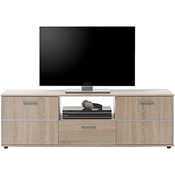 """TV Lowboard Unterschrank Fernsehschrank Fernsehtisch Longboard Hifi """"Loos I"""""""