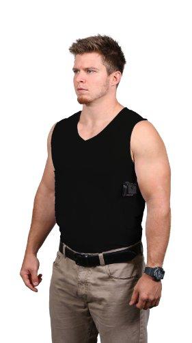 Packin 'Herren T-Shirt V-Ausschnitt Concealment Shirt L schwarz (Verbergen Und Tragen Jacke)