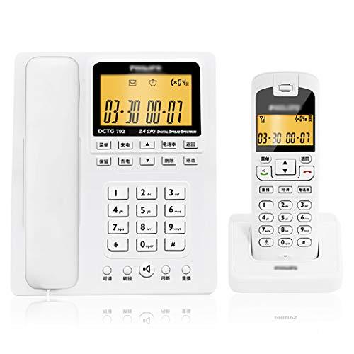 Yingying Kabelloses Telefon Telefon Business digital Schnurloses Telefon Mutter Maschine Square Festnetz festnetztelefon (Farbe : B) -