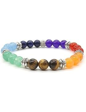 7 Chakras Yoga Stein Armband Halbedelsteine Meditation Healing Balancing Runde Armband Verstellbar