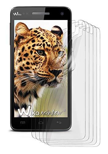 5X Wiko Rainbow 4G   Schutzfolie Matt Bildschirm Schutz [Anti-Reflex] Screen Protector Fingerprint Handy-Folie Matte Bildschirmschutz-Folie für Wiko Rainbow 4G Bildschirmfolie