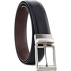 Kesari's Reversible Pu Leather(Lether Like Strength) Black|Brown-belt for men formal-belts for men-gifts for men-(One Year Guarantee)-Select Belt size exactly same as per waist/pant size