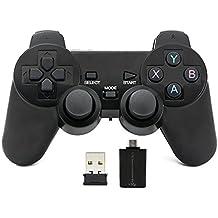 QUMOX Controlador inalámbrico 2.4GHz Gamepad Joystick Gamepad para PC Android
