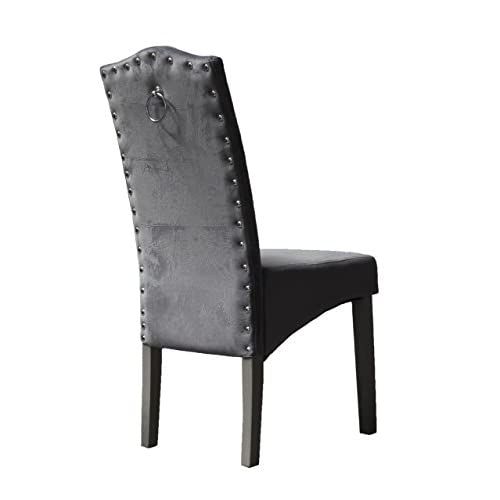 PS Global SET of 2 QUALITY Knockerback Velvet Dining Chairs – Dining, Kitchen, Chairs 2 (Mink)