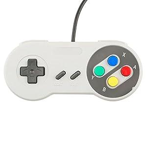Exlene® Super Game Controller SNES USB Classic Gamepad [2-Pack] for PC MAC Games for Win98/ME/2000/2003/XP/Vista/Windows7/8/ Mac os [Super Nintendo]