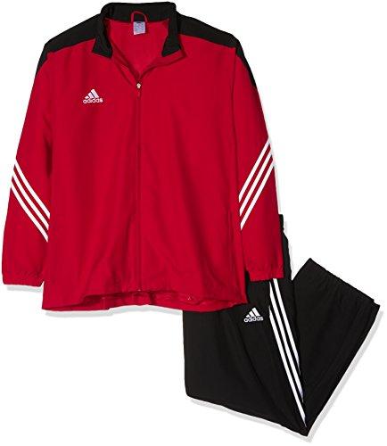 adidas Herren Fußball Bekleidung Sere14 Präsentations Trainingsanzug Mehrfarbig (Top:Unired/Black/Wht Bottom:Black/White)