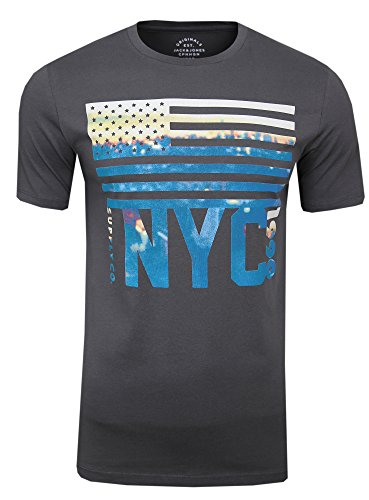 JACK & JONES Herren T-Shirt, 3er Pack Farbmix Downtown 3er Set