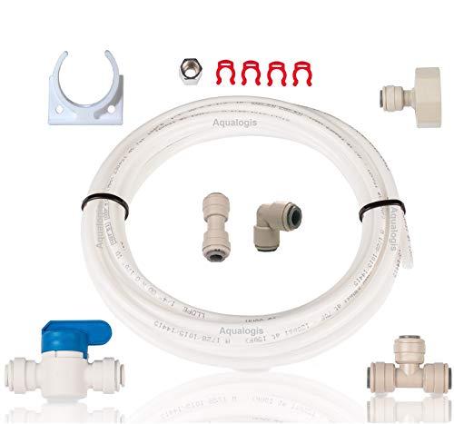 Aqualogis Wasseranschluss-Set AL-023für Kühlschrank und Eiswürfelzubereiter, für Wassersysteme mit Umkehrosmose