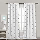 Lala + Bash Wink Blackout Window Curtain, 38 x 84 Inches, White