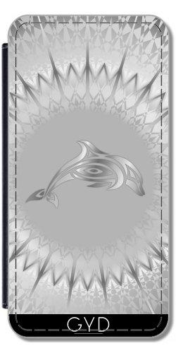 leder-flip-case-tasche-hulle-fur-samsung-galaxy-s2-gt-i9100-silber-delphin-tier-tatoo-by-nina-baydur