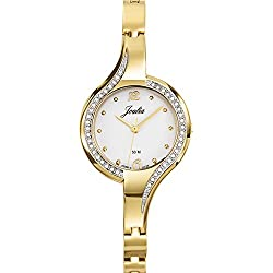 Joalia Women's Analogue Watch with White Dial Analogue Display and Metal - 631924