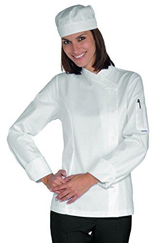 Isacco - Veste Chef Femme Snaps Blanc 100% Coton Blanc - blanc