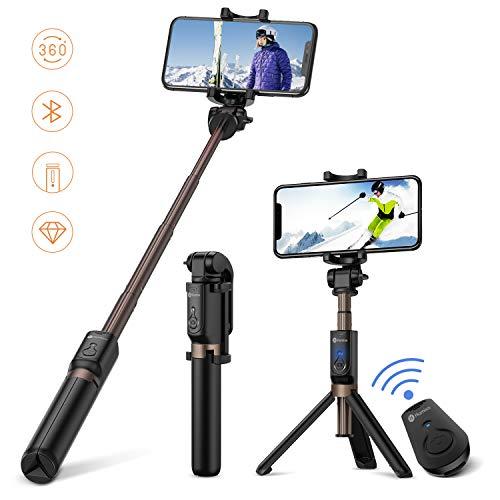 Humixx Selfiestick, Selfie Stick, Drahtlos Gesteuert Selfiestick iPhone für 6/7/8 /Samsung iPhone X / 8 Plus / 8 Plus / 7 / Samsung Galaxy Serie, DSLR und iPad (Schwarz)