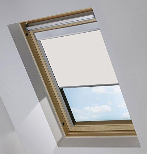 Rapid Teck® Thermo Verdunkelungsrollo passend für Velux Dachfenster / M08 / 308 / 2 / Weiß / 100{5f22e77d66c0e2c23b2ea86dc29a6a4cee9a1ba384d1cfad6f9883fc7003b14f} Verdunkelndes Rollo
