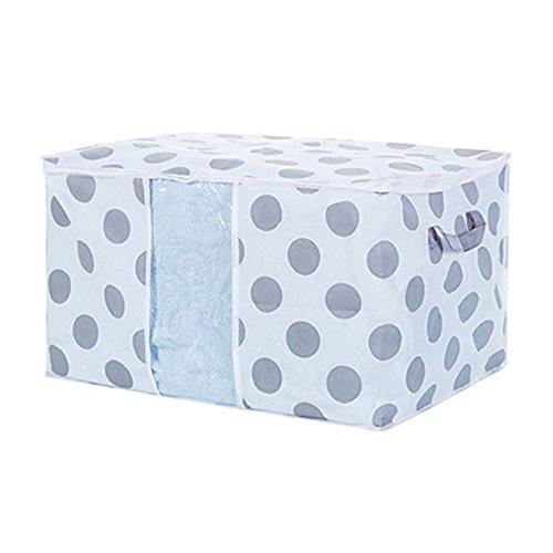 Vanker Vlies Stoff Quilt Tasche Betten Halter Kleidung Unterwäsche BH Aufbewahrungsbox Container Fall mit Reißverschlüssen (Punkt; 50* 42* 27cm) (Tasche Quilt)