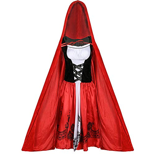 Red Hood Kostüm Riding Womens - WnsdhhaFX25 Fancy Dress Up for Women Red Riding Hood Sexy Costume Halloween Clothing Women Adult/Dress & Hat
