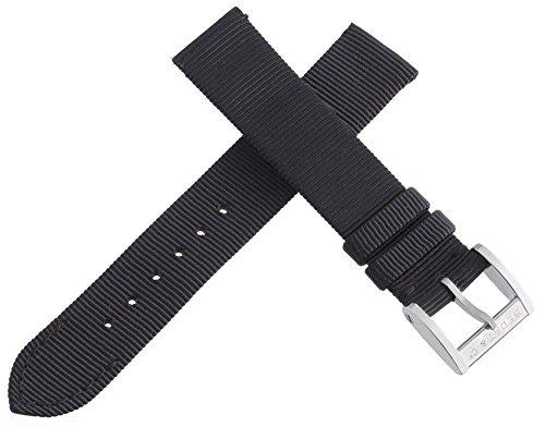 BEDAT & CO. Uhrenarmband Textil Leder 16 mm schwarz